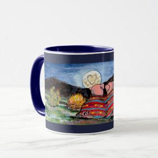 Romantic Pigs in a Blanket, Moon Designer Mug