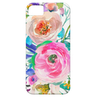 Romantic Pink And Beige Flowers iPhone 5 Cover