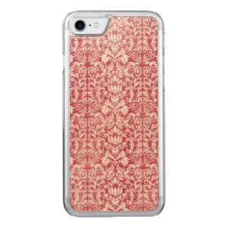 Romantic Pink Distressed Damask Carved iPhone 8/7 Case