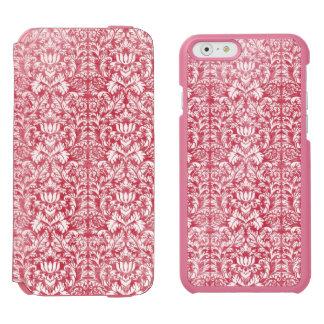 Romantic Pink Distressed Damask Incipio Watson™ iPhone 6 Wallet Case