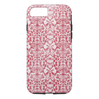 Romantic Pink Distressed Damask iPhone 8/7 Case