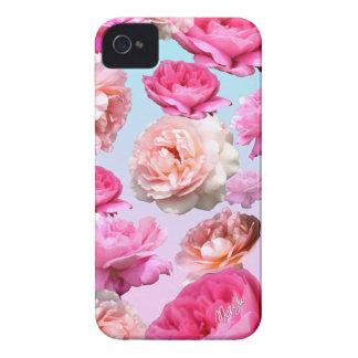 Romantic Pink Floral iPhone 4 Slim Phone Case