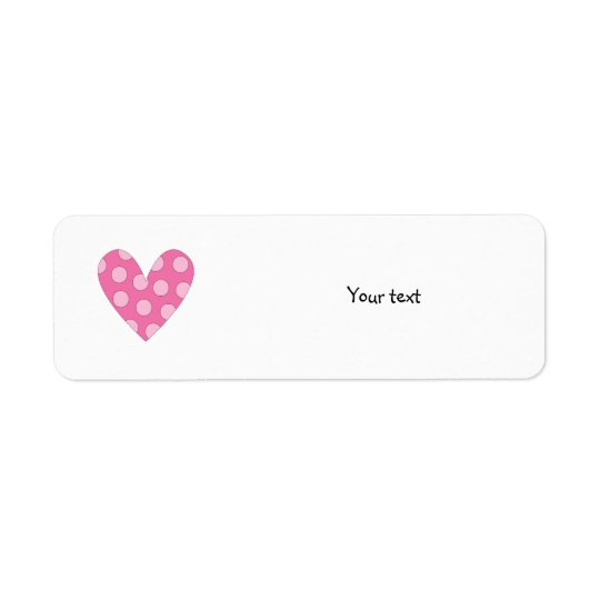 Romantic pink heart drawing