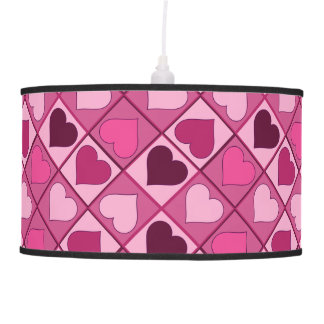 Romantic Pink Hearts Up and Down Pendant Lamp