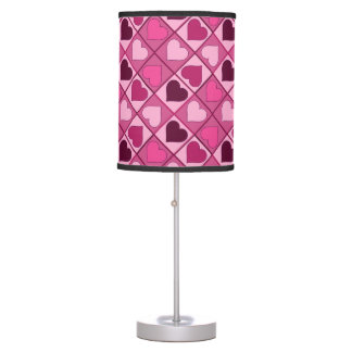 Romantic Pink Hearts Up and Down Table Lamp
