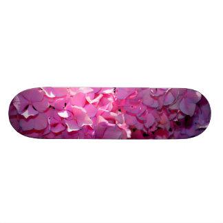 Romantic  Pink Hydrangeas Skateboard
