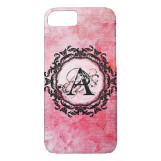 Romantic Pink Old Rose Chic Pattern iPhone 8/7 Case