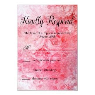 Romantic Pink Old Rose Rustic Card