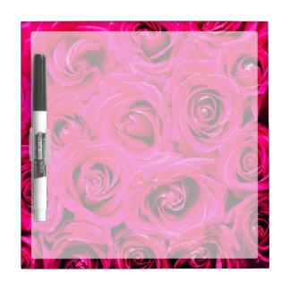 Romantic Pink Purple Roses Dry Erase Board