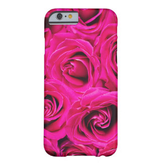 Romantic Pink Purple Roses Pattern Barely There iPhone 6 Case