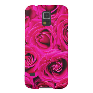 Romantic Pink Purple Roses Pattern Case For Galaxy S5