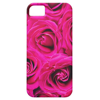 Romantic Pink Purple Roses Pattern Case For The iPhone 5