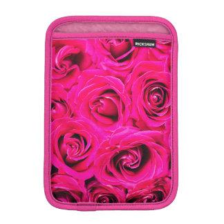 Romantic Pink Purple Roses Pattern iPad Mini Sleeve