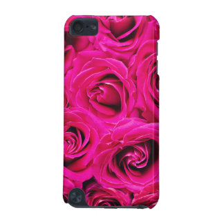 Romantic Pink Purple Roses Pattern iPod Touch (5th Generation) Case