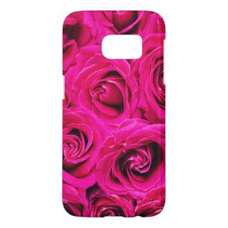 Romantic Pink Purple Roses Pattern Samsung Galaxy S7 Case