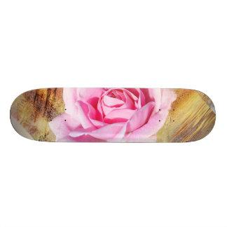 Romantic Pink Rose Custom Skateboard