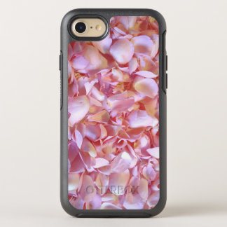 Romantic pink Rose Petals OtterBox Symmetry iPhone 7 Case