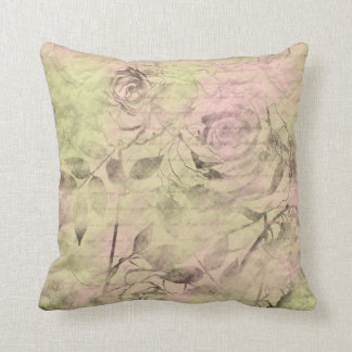 Romantic Pink Rose Throw Pillow
