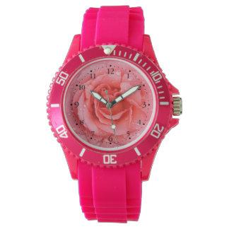 Romantic Pink Rose Water Drops Watch