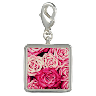 Romantic Pink Roses Charm