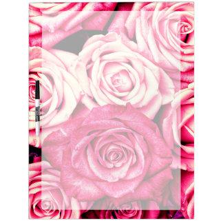 Romantic Pink Roses Dry Erase Board