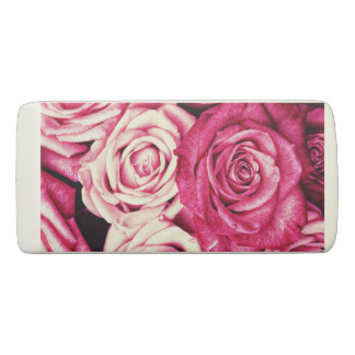 Romantic Pink Roses Eraser