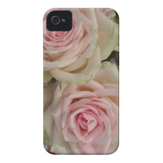 Romantic pink roses iPhone 4 case