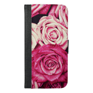 Romantic Pink Roses iPhone 6/6s Plus Wallet Case