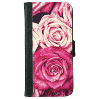 Romantic Pink Roses iPhone 6 Wallet Case