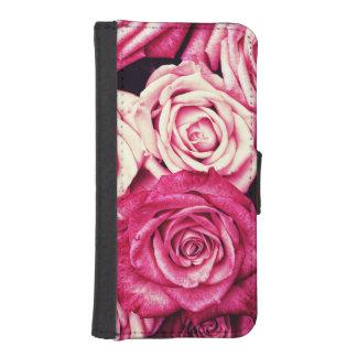 Romantic Pink Roses iPhone SE/5/5s Wallet Case