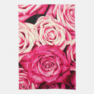 Romantic Pink Roses Kitchen Towel