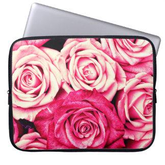 Romantic Pink Roses Laptop Sleeve