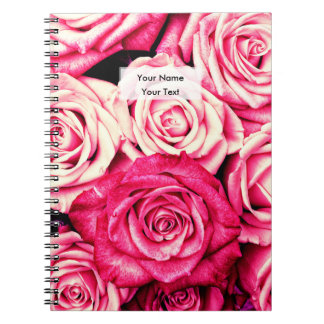 Romantic Pink Roses Notebooks