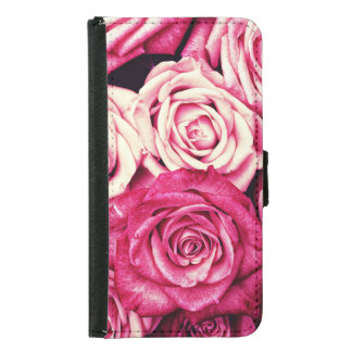 Romantic Pink Roses Samsung Galaxy S5 Wallet Case