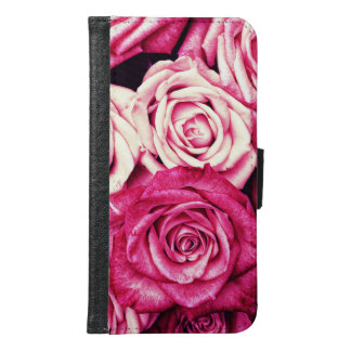 Romantic Pink Roses Samsung Galaxy S6 Wallet Case