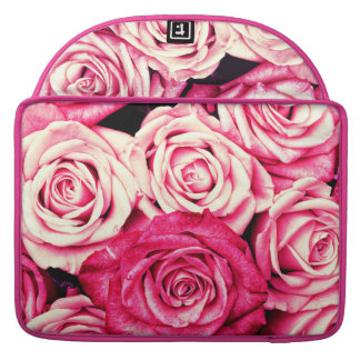 Romantic Pink Roses Sleeve For MacBook Pro