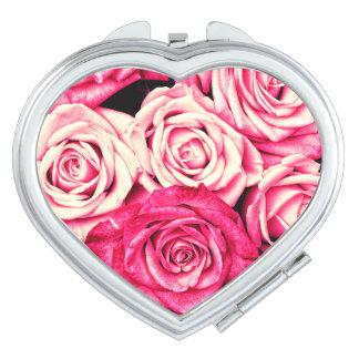 Romantic Pink Roses Vanity Mirror