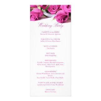 Romantic Pink Roses Wedding Program