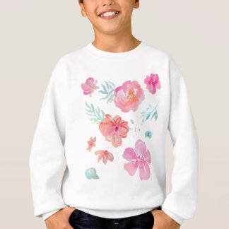 Romantic Pink Watercolor Flowers Sweatshirt