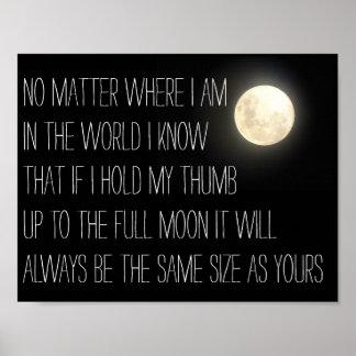 Romantic poster dear john inspired moon
