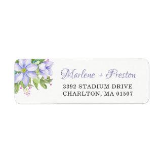 Romantic Purple Floral Garden Watercolor Wedding
