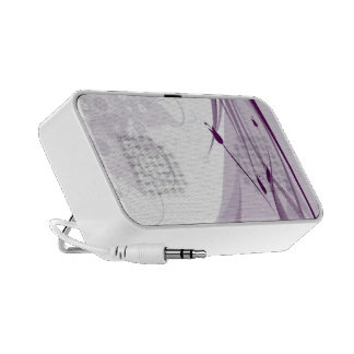 Romantic Purple Flourishes Travel Speaker