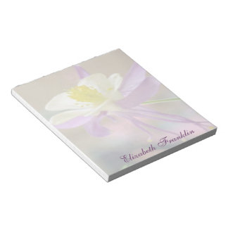 Romantic Purple Flower Bridal Party Gift Notepad