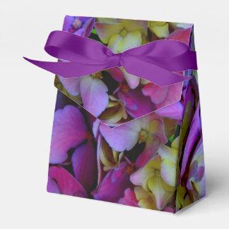 Romantic purple Hydrangeas Favor Box