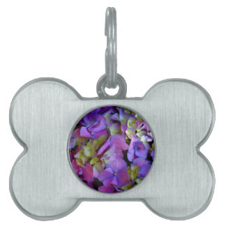 Romantic Purple Hydrangeas Pet Tags