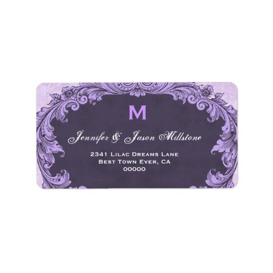 Romantic Purple Vintage Monogram