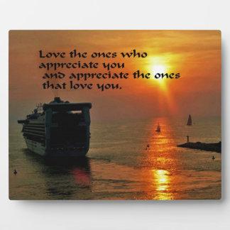 Romantic quote plaque