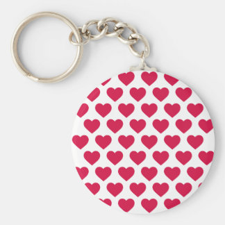 Romantic Red And White Hearts Love  - Wedding Keychain