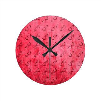 Romantic,Red,Heart Pattern Clock