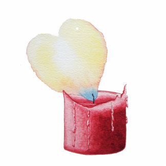 romantic red love heart candle sculpture key chain photo sculpture keychain